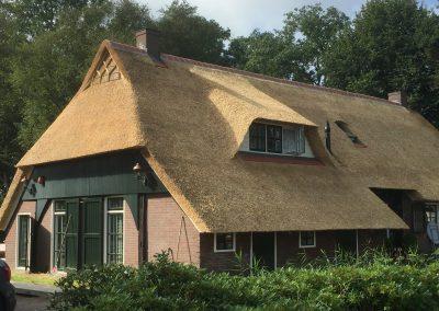 rieten dak van boerderij